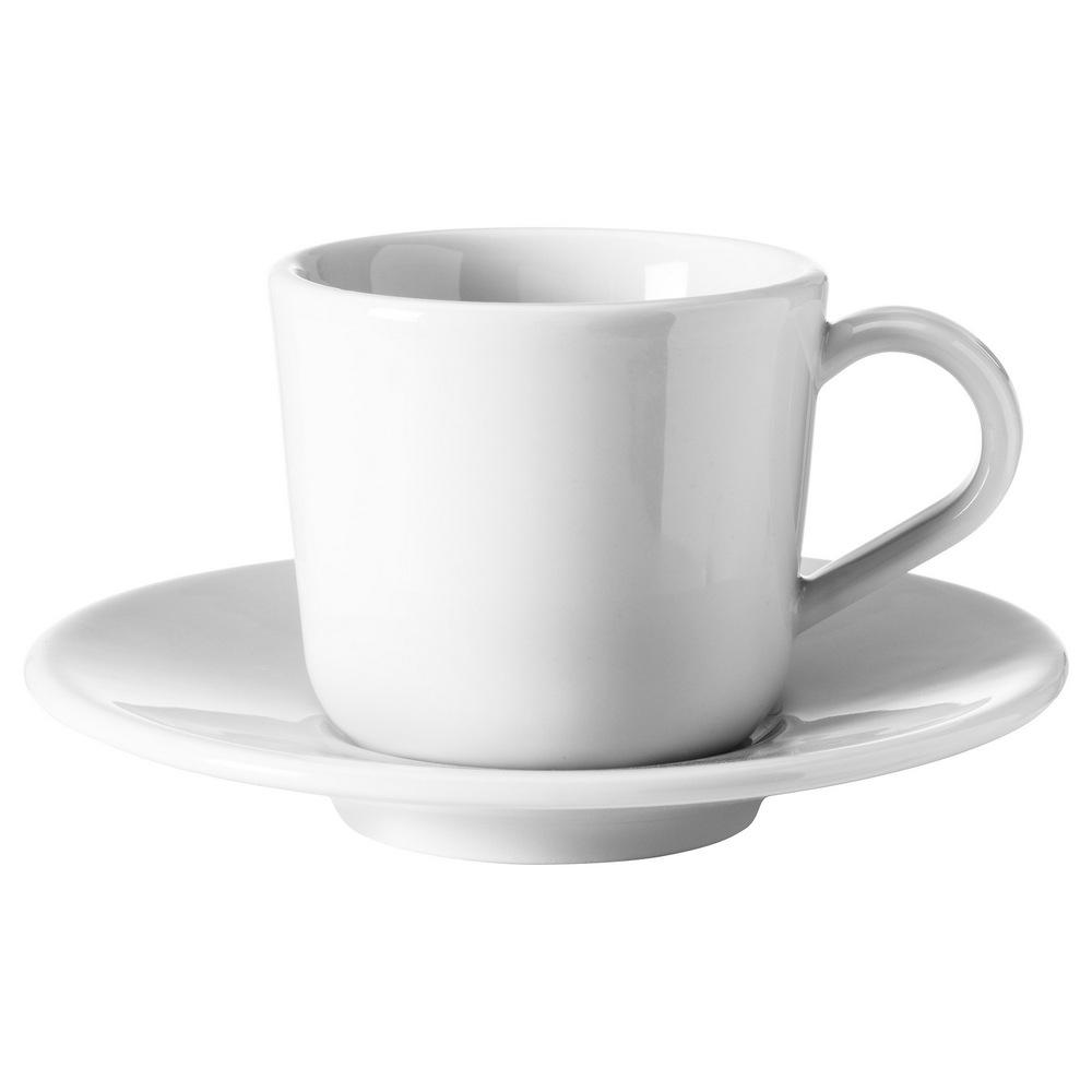 Чашка для кофе эспрессо с блюдцем ИКЕА/365+