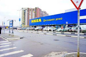 Парковка магазина ИКЕА Химки