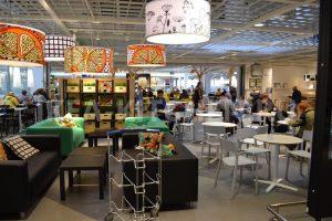 Ресторанная зона в ИКЕА Дыбенко