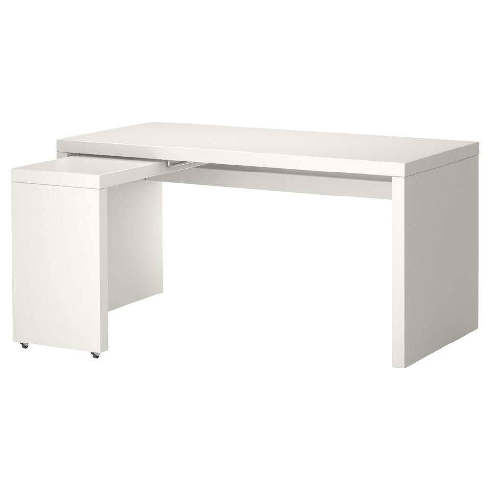 Письменный стол с выдвижной панелью МАЛЬМ