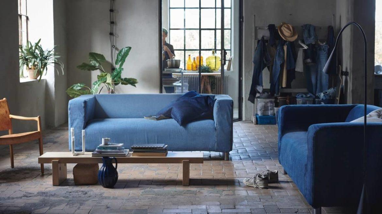 IKEA выпустит чехол для дивана КЛИППАН из переработанных джинсов